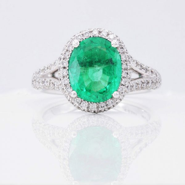 Emerald Ring YR3440 Square Final