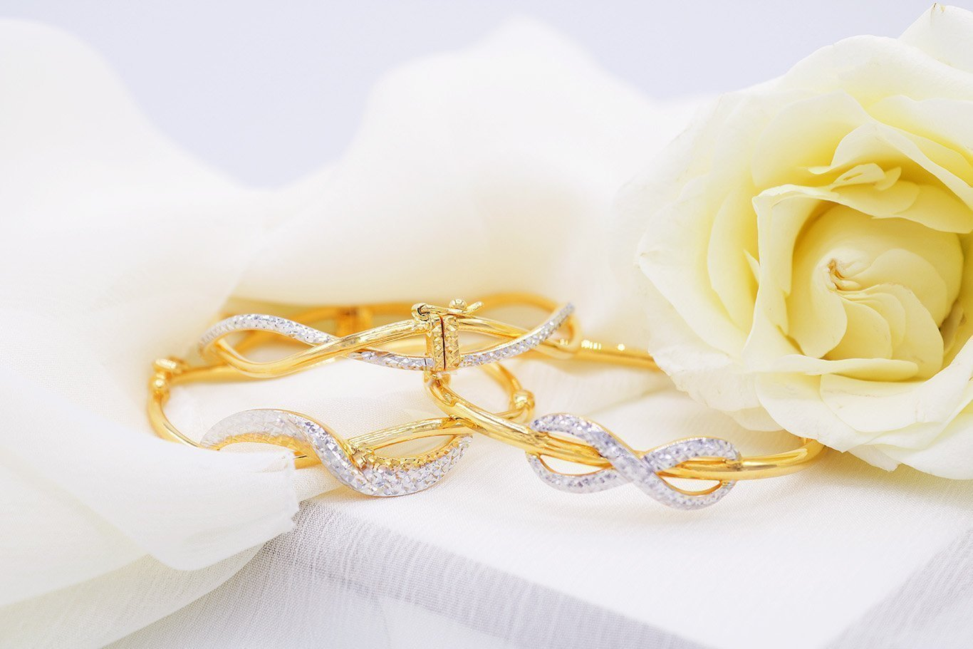 916 Gold Bangles from Orient Jewellers Singapore