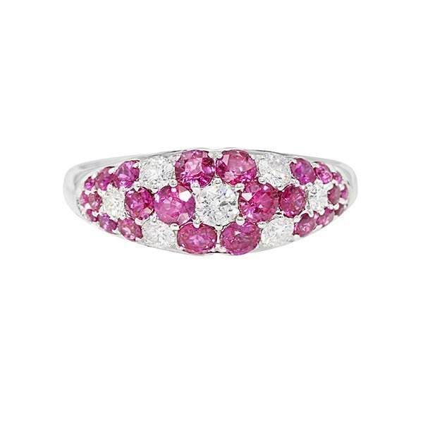 Ruby Flower Mosiac Ring 0