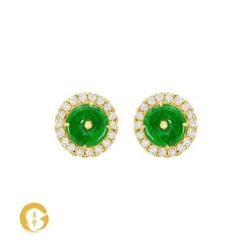 Yin Jadeite Earrings