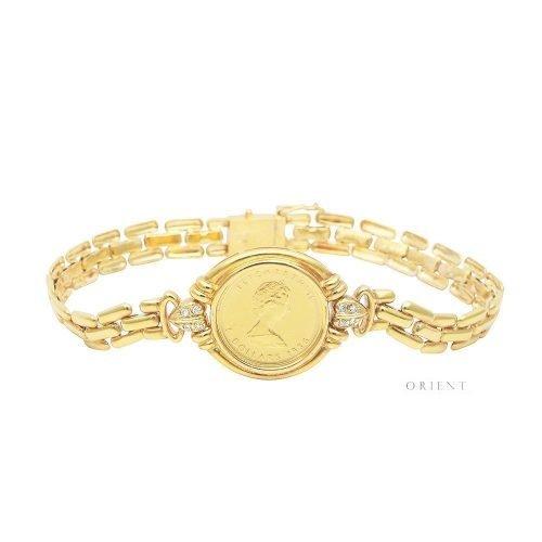 XL50 Lady Liberty Coin Diamond Bracelet