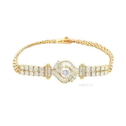 XL644 Tapered Vintage Diamond Bracelet