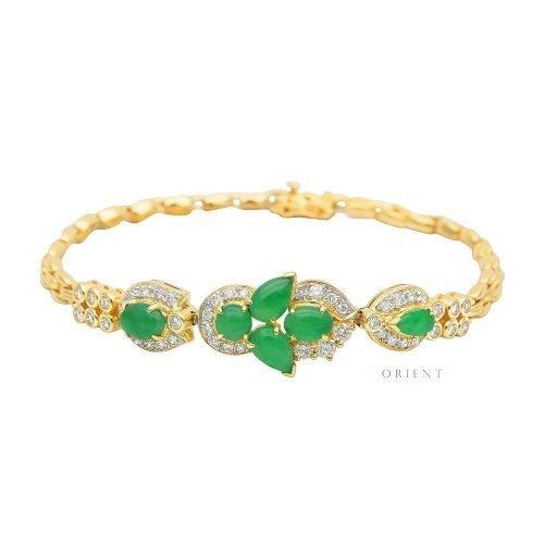 XL757 Jade Tulip Diamond Bracelet