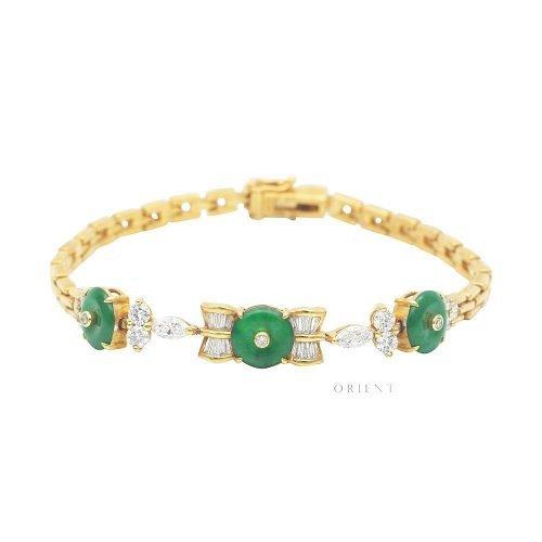 XL823 Jade Doughnut Diamond Bracelet