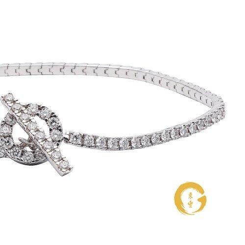 Diamond Toggle Clasp Full Tennis Bracelet