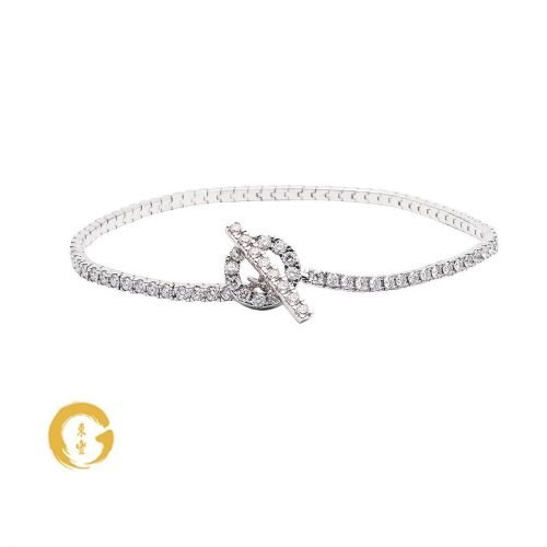 Diamond Toggle Clasp Full Tennis Bracelet